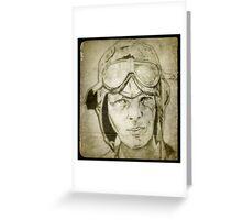 Amelia Earhart drawing Greeting Card