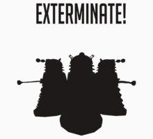 Exterminate! Dalek Silhouette  by LiquidBass