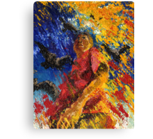 Pallet Knife Pete Canvas Print