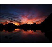 Vivid Sunset Lake Reflection Photographic Print