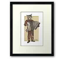 Accordion Cat Framed Print