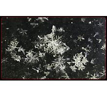 Congregating Flakes. Photographic Print