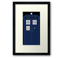 Doctor Who's Tardis Framed Print