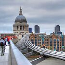 St Paul's Cathedral and Millennium Bridge by Karen Martin IPA
