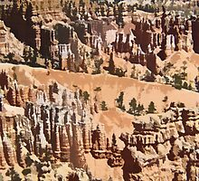 Stylized photo of hoodoos in Bryce Canyon National Park, UT  US. by NaturaLight