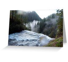 Atop the Falls Greeting Card