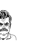 Ron Swanson by EvelynR