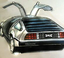 Delorean DMC-12 by crayonbreaking