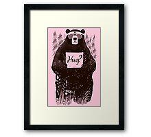 Free Bear Hugs Framed Print