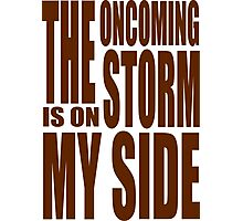 Doctor Who - Oncoming Storm tee Photographic Print