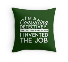 Sherlock - Consulting detective Throw Pillow