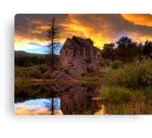 Sunset over St Malo Chapel near Estes Park, CO Canvas Print