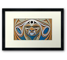 Wooden Mask Framed Print