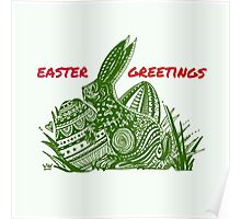 Easter Bunny Easter Greetings Poster