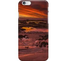 Evening Fire, Fingal Beach iPhone Case/Skin