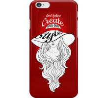 Lady in a hat with large fields iPhone Case/Skin