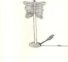 skeleton sketch surreal light by amelia S-W