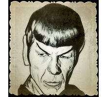 Spock, Leonard Nimoy drawing Photographic Print