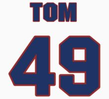 National baseball player Tom Bruno jersey 49 by imsport
