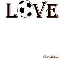 LOVE SOCCER Photographic Print