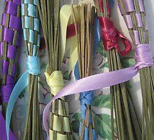 lavender bundles at the farmer's market by Laurkat