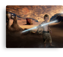 Padawan Training Tatooine Canvas Print