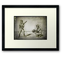 Vintage baseball drawing Framed Print