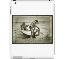 Canoe drawing iPad Case/Skin