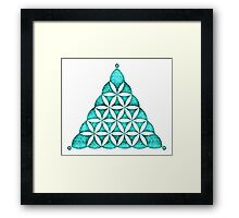 Flower Of Llife, Sacred Geometry, Crop Circle, Triangle Framed Print