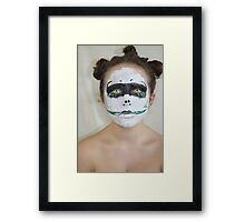 greed (face painting)  Framed Print