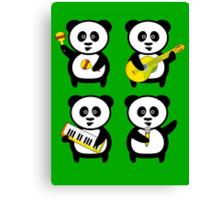 Band of pandas Canvas Print