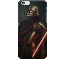 Darth Vader - Portrait (As a Knight) iPhone Case/Skin