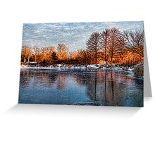 Cold Ice, Warm Light – Lake Ontario Impressions Greeting Card