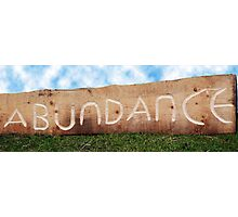 Sign of Abundance Photographic Print