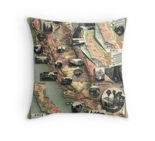 California - United States - 1888 Throw Pillow