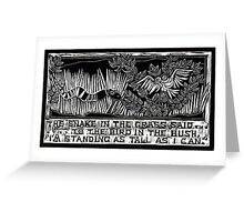 Parables Series, I Can't See You! Greeting Card