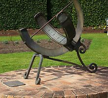 Sun Dial in the Rose Garden of the Wollongong Botanic Gardens by Vanessa Pike-Russell