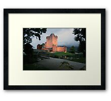 Ross castle evening view Framed Print