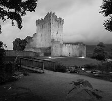 Ross castle in black and white by John Quinn