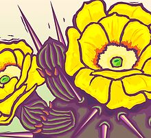 Prickly Pear Blossoms by SigneNordin