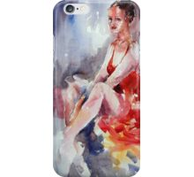 Ballet Dancer in Red Dress - Dance Art Gallery iPhone Case/Skin