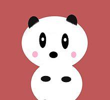 Kawaii Panda Bear by bluEyedbadger