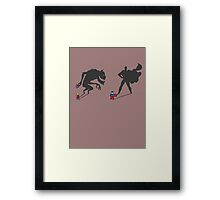 Saving the day! Framed Print