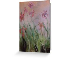 Monet inspired ireses in oils Greeting Card