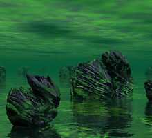 dead planets on a dieing sea by Niiso