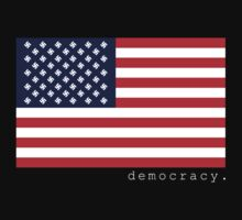 democracy flag black by democracy