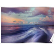 Sunset Wave. Maldives  Poster