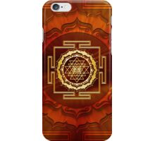Shri Yantra, Cosmic Energy Conductor, Lotus Flower, Buddhism iPhone Case/Skin
