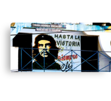 Artwork of Che on Trabajadores Sociales building, Vinales, Cuba Canvas Print