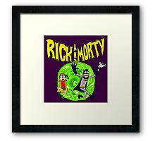 Rick and Morty Batman Reality Framed Print